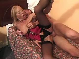 Sexy mature gets numerous cumload in mouth by guys