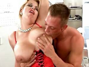 Lewd beautiful mature with big tits fucked by guy