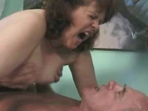 Old man fucks granny in stockings with big tits