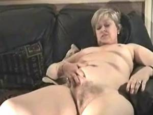 Plump granny with hairy pussy greedily sucks cock