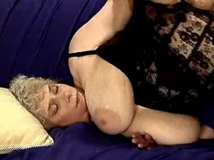 Aged ladies in stockings get facial in group sex