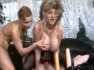 Aged lady gets cum om tits in orgy
