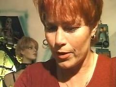 Redhead milf with huge tits has oral
