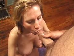 Busty mom takes in mouth and snatch