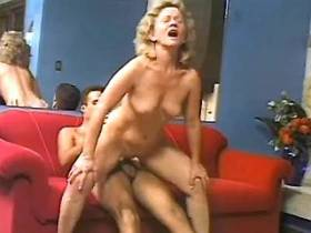 Horny blonde granny screwed by guy