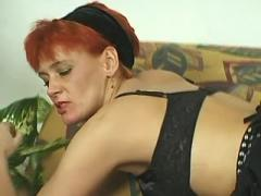 Redhead mom in stokings crazy fucks