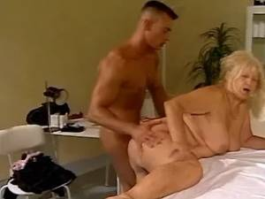Horny elderly fatty drinks hot jizz