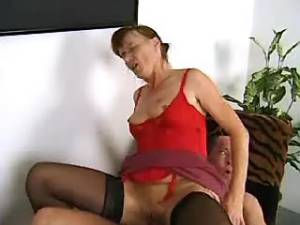 Senior woman happy to have some sex
