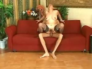 Lewd grey mature crazy jumps on strong cock of guy