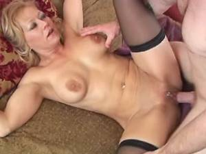 Horny mature gets real fuck and facial from guy