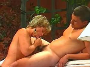 Busty mature sucks strong cock and gets cumload