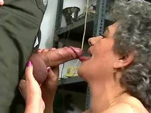 Spoiled granny in stockings prefers fresh cock