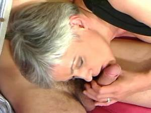 Lusty granny spoils amateur dude and gets cumload