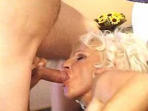 Glamour aged lady gets cumload on hollowed hole