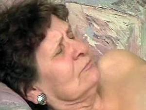 Granny gets real fuck and cum on her old pussy