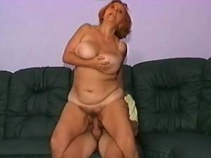 Plump granny gets deep fuck and cream in mouth
