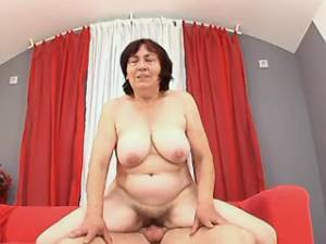 Nice granny fucked by horny dude with hard cock