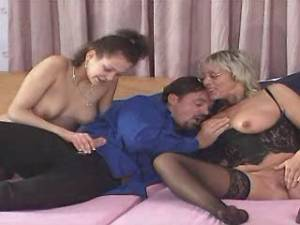 Kinky granny in stockings crazy fucked in orgy