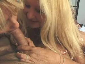 Granny and mature share strong cock in wild orgy