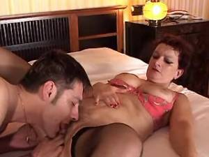 Horny mature gets deep anal and cumload on face