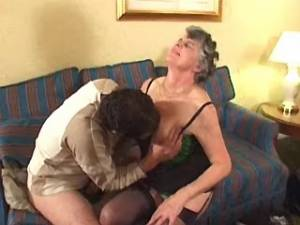 Kinky grannies licked and fucked by guys in group