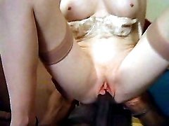 Slutty milf gets banged doggy style
