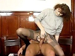Young guys doing two mature whores