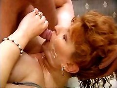 Two experienced bitches swap jizz