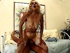 Granny fucked by man in every poses
