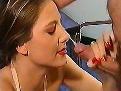Nurse gets facial after deep anal sex in all poses