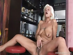 Dirty old mature whore works her 5000th cock