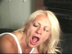 Kinky blond granny fucks like crazy
