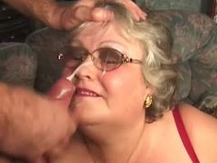 Fat granny crazy fucks and gets cum