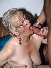 Old whores forget the world with a good hard cock