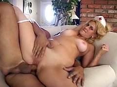 Blonde nurse milf get some good cock and get fuck hard
