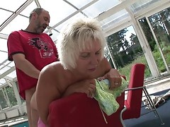 Sexy grandma make blowjob for grandpa